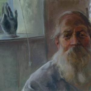 "Tania Karpowitz ""Bearded Man"" Oil Painting"