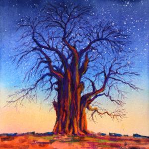 "Kim Stenberg ""Tree of Life"" Watercolor"