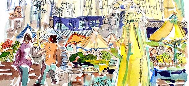 """Market Square"" by Avis Fleming"